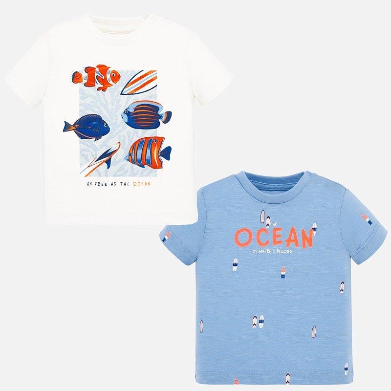 Set 2x chlapecké tričko Mayoral – vel. 80,86,92,98